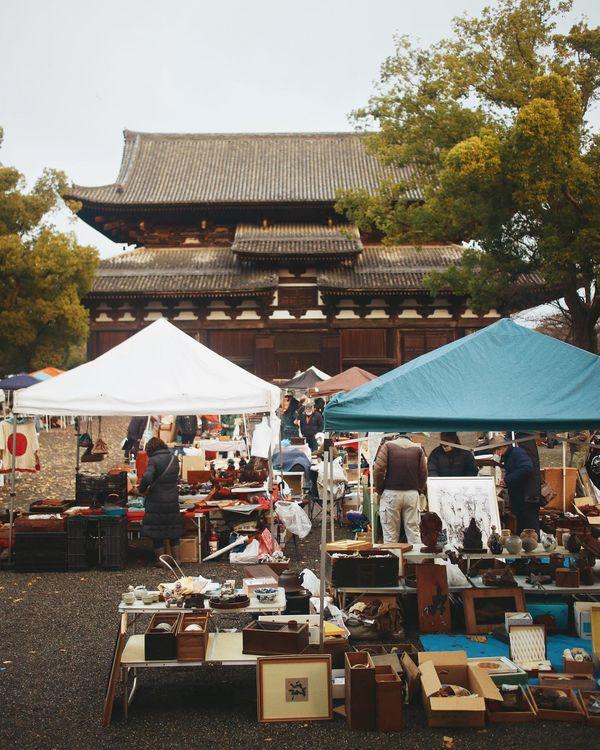 東寺がらくた市の画像